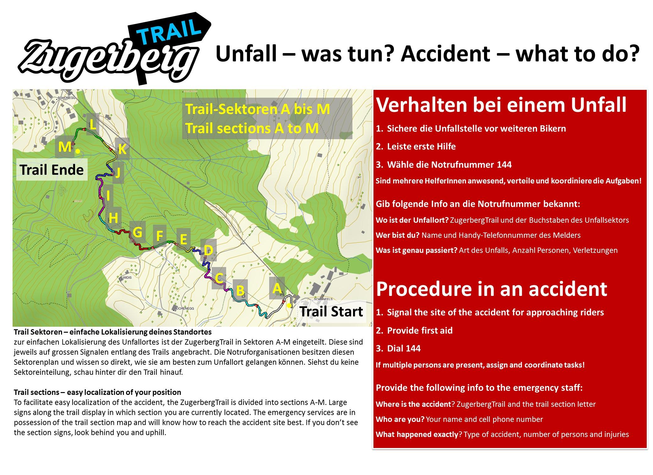 ZugerbergTrail Notfallzettel